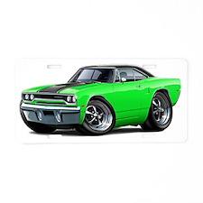 1970 Roadrunner Green-Black Aluminum License Plate