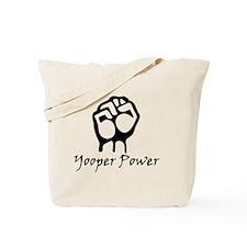 Blk_Yooper_Power_Fist.gif Tote Bag