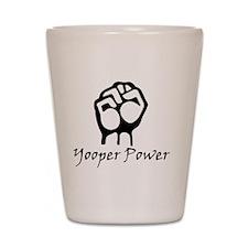 Blk_Yooper_Power_Fist.gif Shot Glass