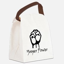 Blk_Yooper_Power_Fist.gif Canvas Lunch Bag