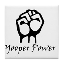 Blk_Yooper_Power_Fist.gif Tile Coaster