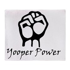 Blk_Yooper_Power_Fist.gif Throw Blanket