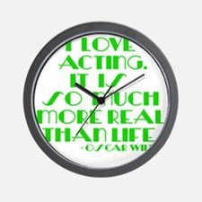 I LOVE ACTING Wall Clock