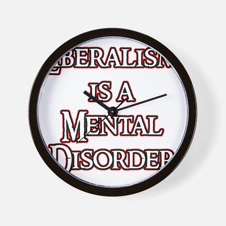 liberalism_red Wall Clock