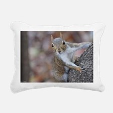 Juvenile Squirrel Up Are Rectangular Canvas Pillow