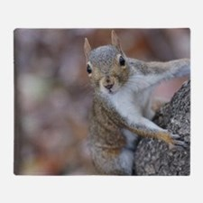 Juvenile Squirrel Up Aree Throw Blanket