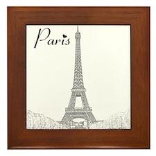 EiffelTower_10x10_apparel_BlackOutline Framed Tile