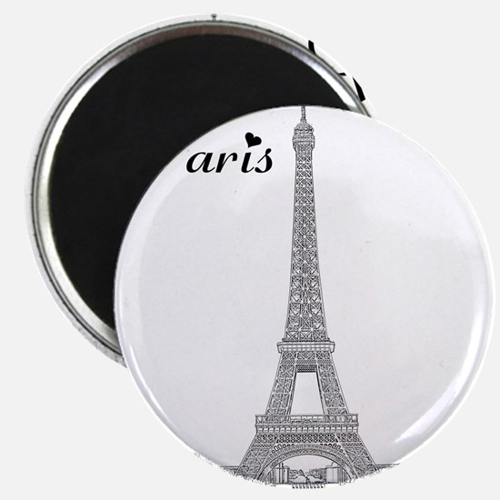 EiffelTower_10x10_apparel_BlackOutline Magnet