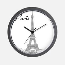 EiffelTower_10x10_apparel_BlackOutline Wall Clock