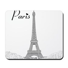 EiffelTower_10x10_apparel_BlackOutline Mousepad