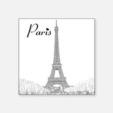 "EiffelTower_10x10_apparel_B Square Sticker 3"" x 3"""