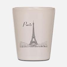 EiffelTower_10x10_apparel_BlackOutline Shot Glass