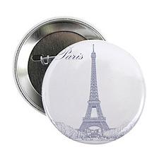 "EiffelTower_10x10_apparel_BlueOutline 2.25"" Button"