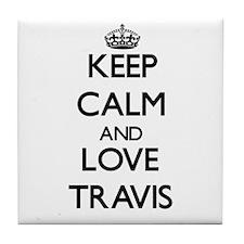 Keep Calm and Love Travis Tile Coaster