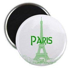 EiffelTower_10x10_apparel_GreenOutline Magnet
