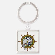 Manatee Division Color Logo Square Keychain