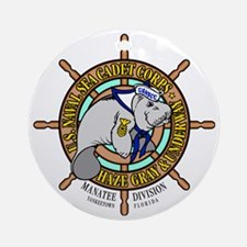 Manatee Division Color Logo Round Ornament
