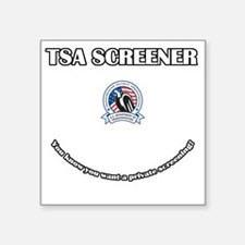 "TSA_Screener Square Sticker 3"" x 3"""