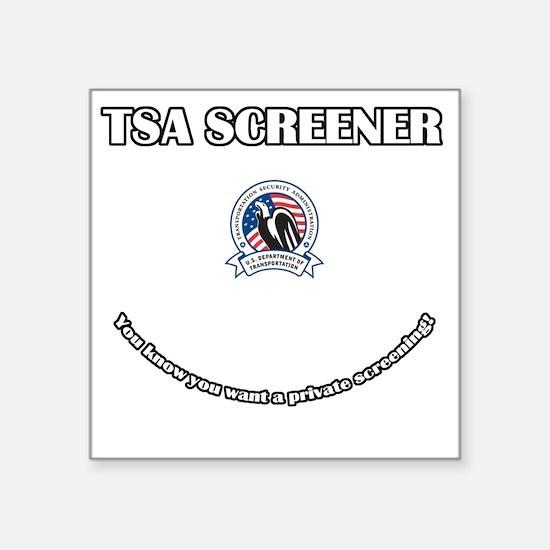 "TSA_Screener Square Sticker 3"" x 3"""