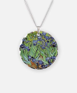 Irises by Vincent van Gogh Necklace