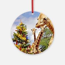 giraffe4cropsmall Round Ornament