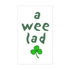 a wee lad Rectangle Decal