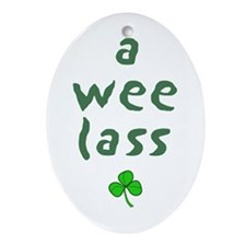 a wee lass Oval Ornament