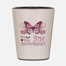 5th Wedding Aniversary (Butterfly) Shot Glass