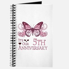 5th Wedding Aniversary (Butterfly) Journal