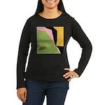 Surf Design V Women's Long Sleeve Dark T-Shirt