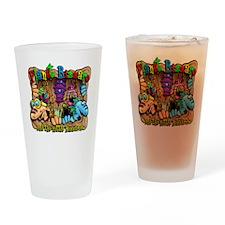 Bizzaro T design Drinking Glass