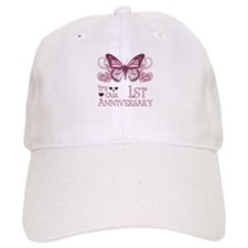 1st Wedding Aniversary (Butterfly) Baseball Cap