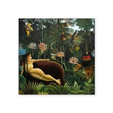 "rousseau-1050 Square Sticker 3"" x 3"""