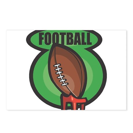 Football on Tee Postcards (Package of 8)