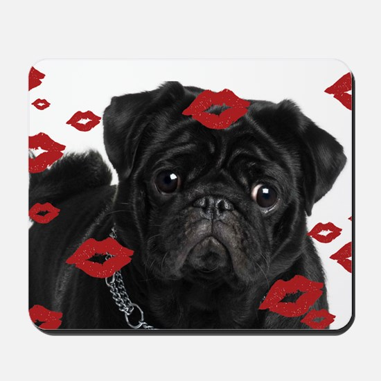 Pugs and Kisses 5x7 Mousepad