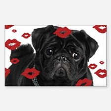 Pugs and Kisses 5x7 Decal