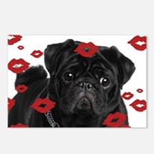 Pugs and Kisses 5x7 Postcards (Package of 8)