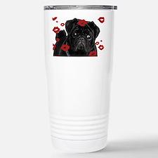 Pugs and Kisses 5x7 Stainless Steel Travel Mug