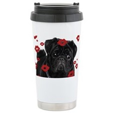 Pugs and Kisses 5x7 Travel Mug