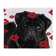 Pugs and Kisses 5x7 Throw Blanket
