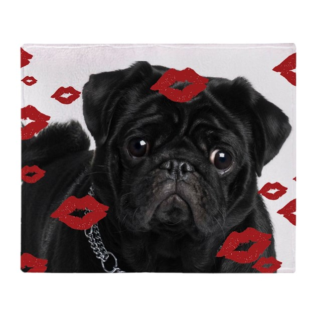 Pugs And Kisses 5x7 Throw Blanket By Admin Cp13490609