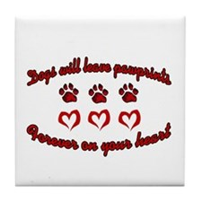 Dogs Leave Pawprints Tile Coaster
