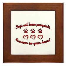 Dogs Leave Pawprints Framed Tile