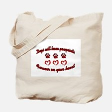 Dogs Leave Pawprints Tote Bag