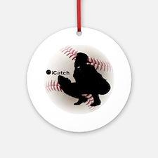 iCatch Baseball Round Ornament