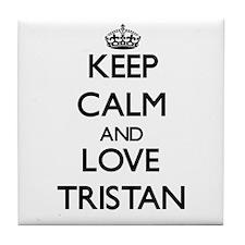 Keep Calm and Love Tristan Tile Coaster