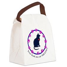 meowlapelsticker Canvas Lunch Bag