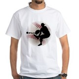 Baseball Mens White T-shirts