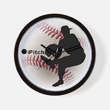 iPitch Baseball Wall Clock