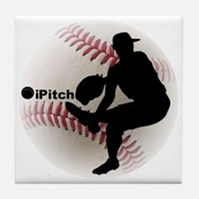 iPitch Baseball Tile Coaster